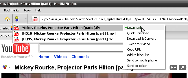 Download YouTube video file.