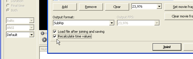 check recalculate time values box